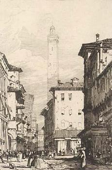Gravure Bonington - Bologne