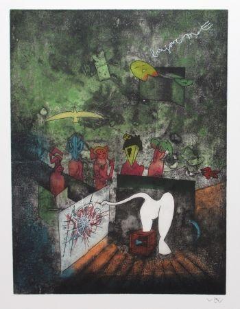 Eau-Forte Et Aquatinte Matta - Bonjour Max Ernst