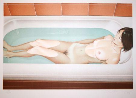 Lithographie Ramos - Bonnard bath