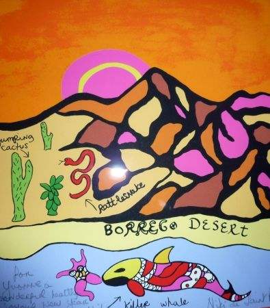 Sérigraphie De Saint Phalle - Borrego desert