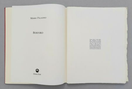 Linogravure Paladino - Bosforo, 1982