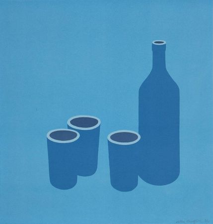 Sérigraphie Caulfield - Bottle and Cups