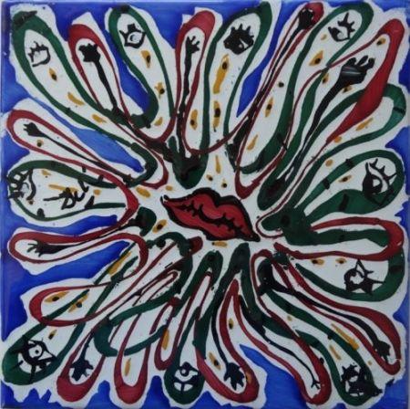 Céramique Dali - Bouche aux mille yeux