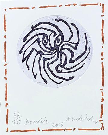 Gravure Alechinsky - Bouclier