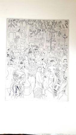 Lithographie Laborde - Boulevard Capucine