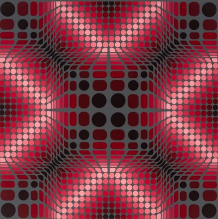 Sérigraphie Vasarely - Boulouss