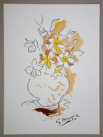 Lithographie Braque (After) - Bouquet
