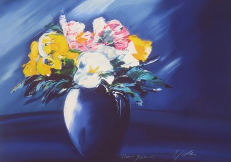 Lithographie Spahn - Bouquet