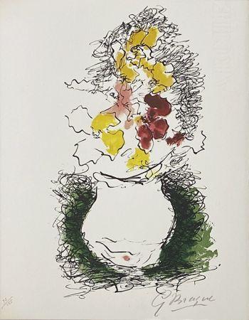 Lithographie Braque - Bouquet
