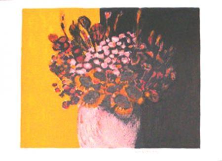 Lithographie Allenbach - Bouquet champetre