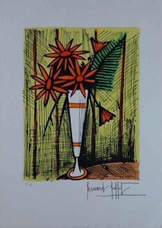 Lithographie Buffet - Bouquet dans un Mazagran