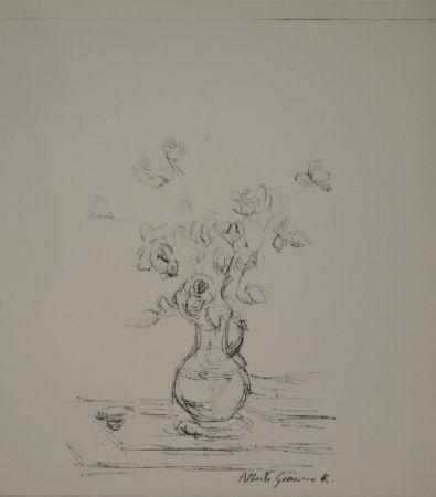 Lithographie Giacometti -  Bouquet dans une cruche I