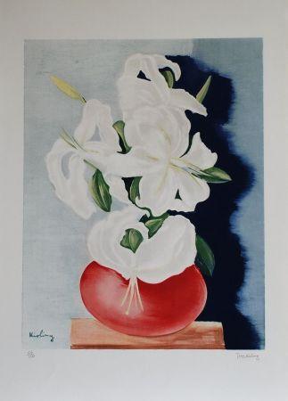Lithographie Kisling - Bouquet de Fleurs