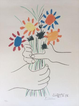 Lithographie Picasso - Bouquet de Paix