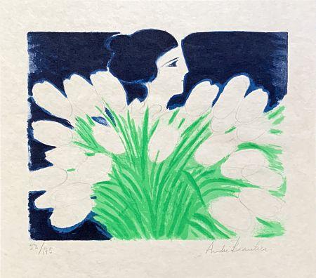 Lithographie Brasilier - Bouquet de Printemps