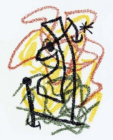 Lithographie Miró - Bouquet de Rêves pour Neila