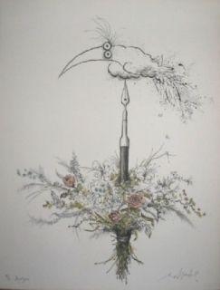 Lithographie Searle - Bouquet garni