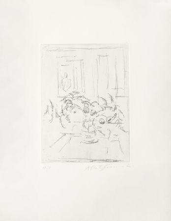 Gravure Giacometti - Bouquet I