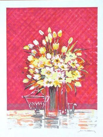 Lithographie Henry - Bouquet Jaune