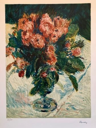 Lithographie Renoir - Bouquet of roses