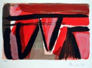 Lithographie Van Velde - Braises