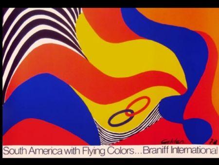 Sérigraphie Calder - BRANIFF SOUTH AMERICA