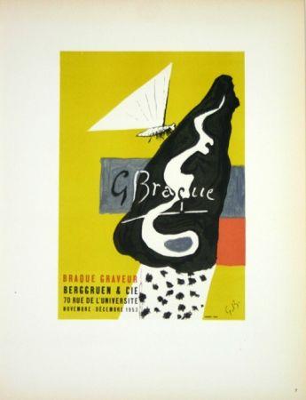 Lithographie Braque - Braque Graveur  Galerie Berggruen Paris 1953