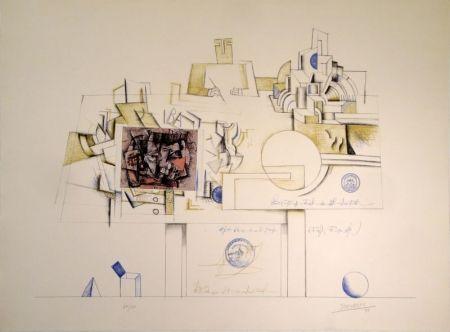 Lithographie Steinberg - Braque Postcard