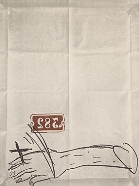 Lithographie Tapies - Bras Et Chiffres