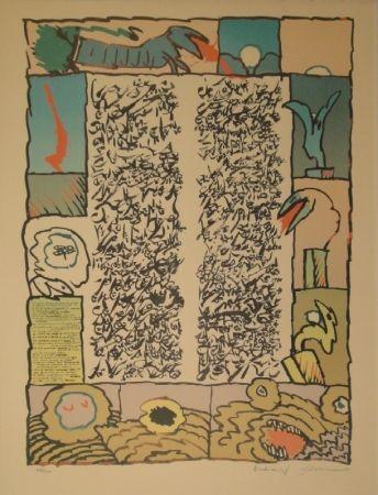 Lithographie Alechinsky - Brassée sismographique