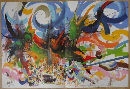 Lithographie Moretti - Brel bruxelles