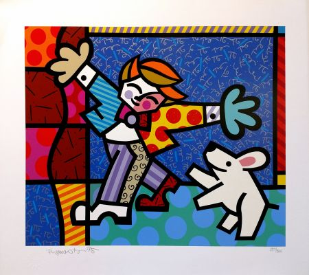 Sérigraphie Britto - BRENDAN AND THE WISHING DOG