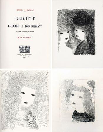 Livre Illustré Laurencin - BRIGITTE OU LA BELLE AU BOIS DORMANT (M. Jouhandeau. 1925)