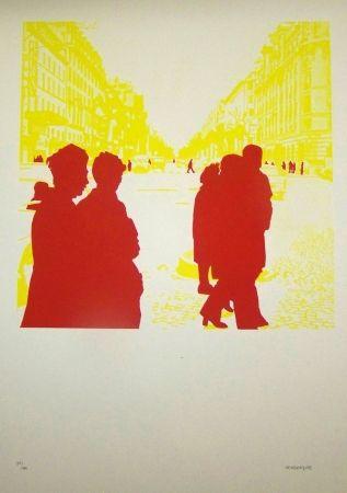 Lithographie Fromanger - Briser la glace