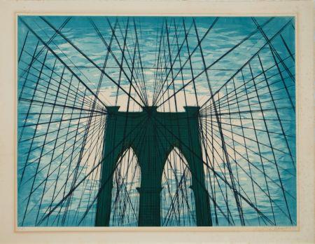 Aquatinte Nesbitt - Brooklyn Bridge