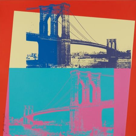 Sérigraphie Warhol - Brooklyn Bridge