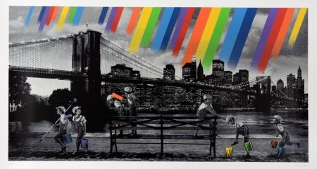 Sérigraphie Roamcouch - Brooklyn Bridge - Mono