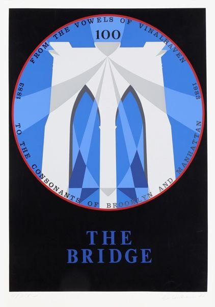 Sérigraphie Indiana - Brooklyn Bridge from the New York, New York Portfolio