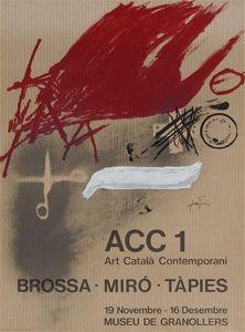 Affiche Tàpies - Brossa-Miró Tàpies