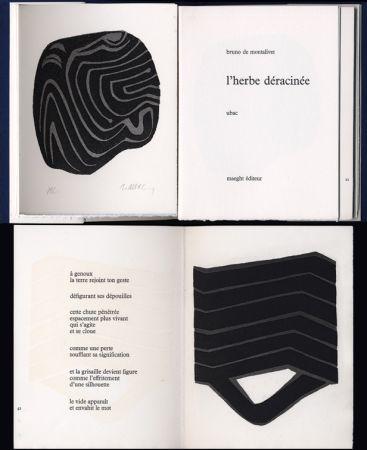 Livre Illustré Ubac - Bruno de MONTALIVET. L'HERBE DÉRACINÉE. Gravures de Raoul Ubac