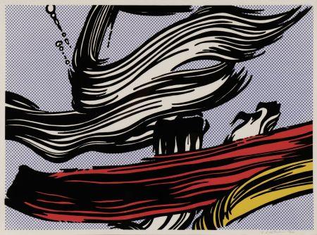 Sérigraphie Lichtenstein - Brushstroke