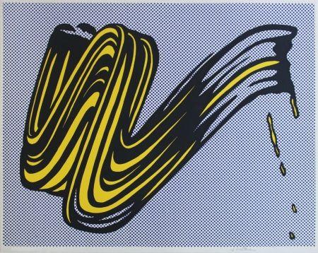 Sérigraphie Lichtenstein - Brushstroke Corlett II 5