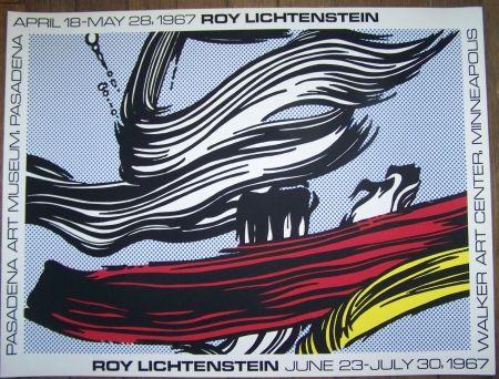 Sérigraphie Lichtenstein - Brushstroke  pasadena museum 1967
