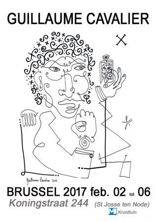 Affiche Cavalier - '' Bruxelles 2017 ''