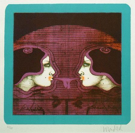 Lithographie Wunderlich - Bubble Gum