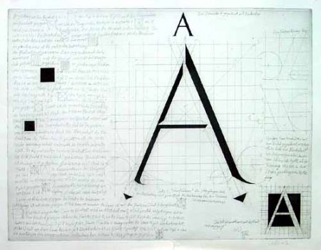 Gravure Bunz - Buchstabe A / The Letter A