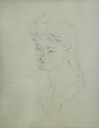Gravure Paul P - Bust de la Bacant I