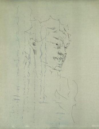 Gravure Paul P - Bust de la Bacant III