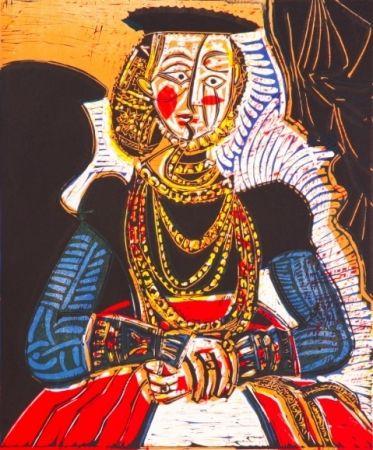 Lithographie Picasso - Buste de Femme