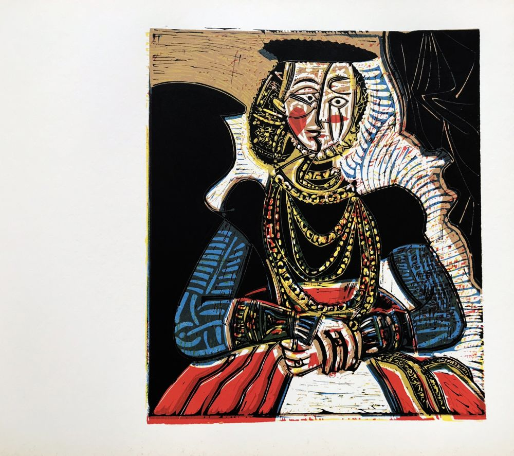 Linogravure Picasso (After) - Buste de femme after granache jeune